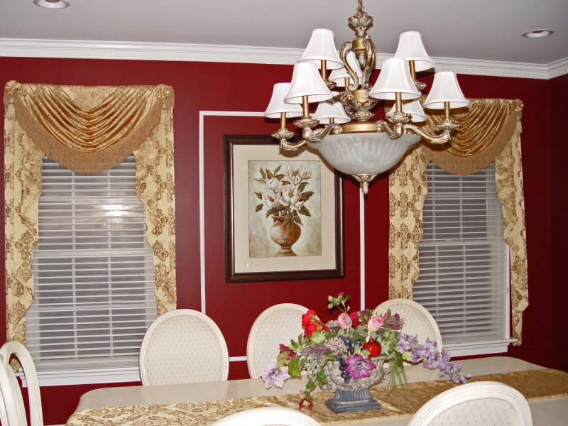 Dining room drapes & valances