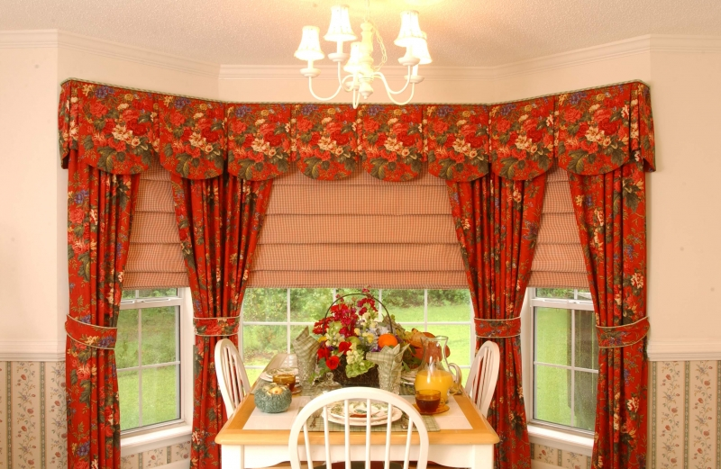 drapes and valances in Bucks County home