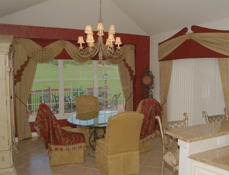 Bucks County draperies and valances