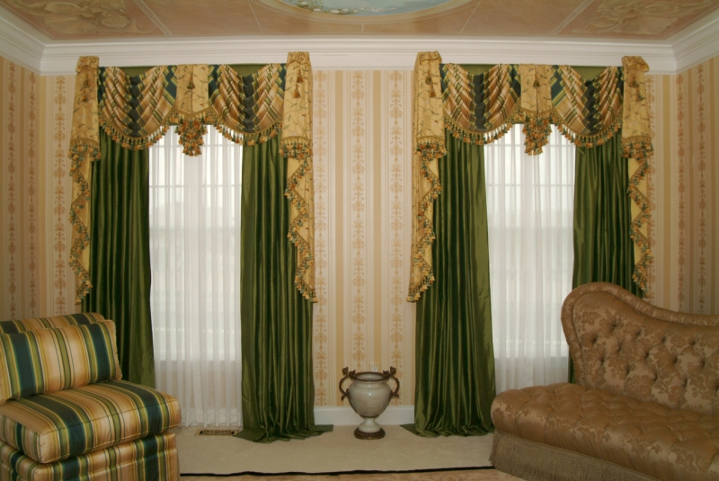 Montgomery County drapes and valances