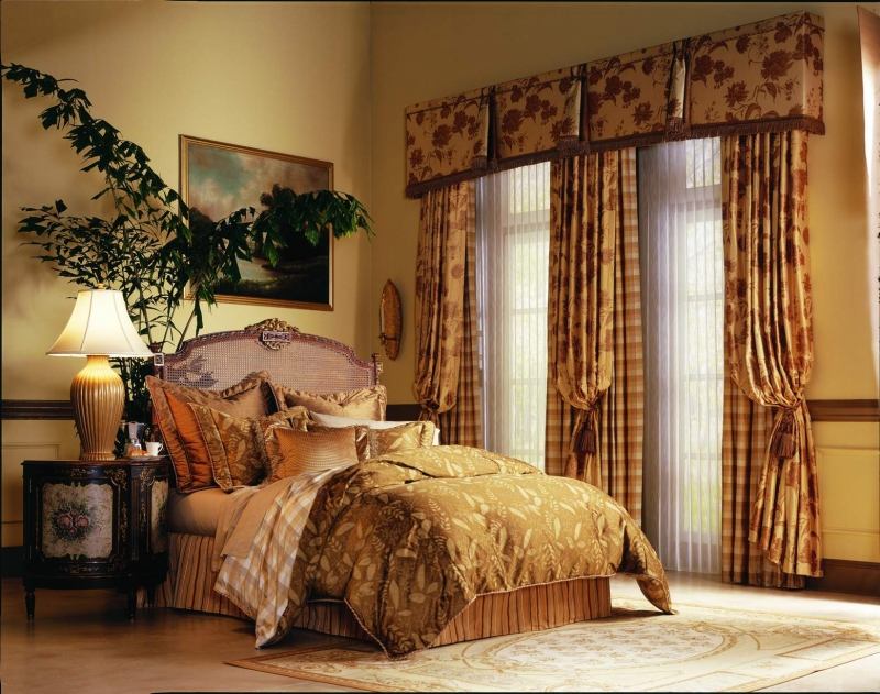 valances and drapery on two windows