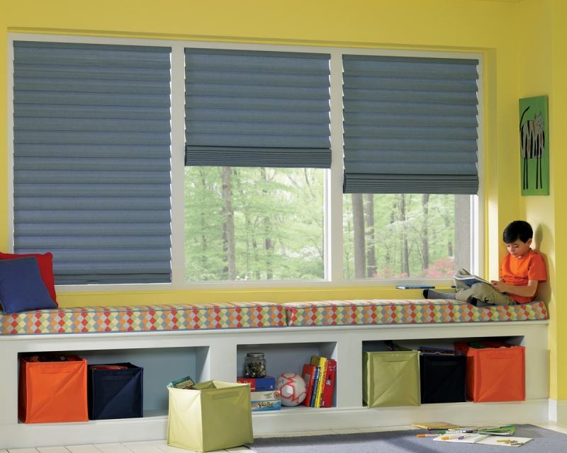 Multi-window Roman shades in Bucks County