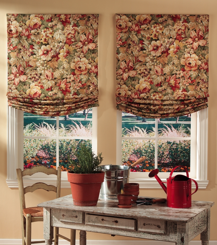 Roman Shades in Montgomery County home