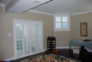 living room bi-fold shutters in Bucks County