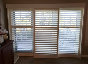 closed sliding shutters & bi-fold shutters