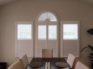bi-fold shutters in dining area